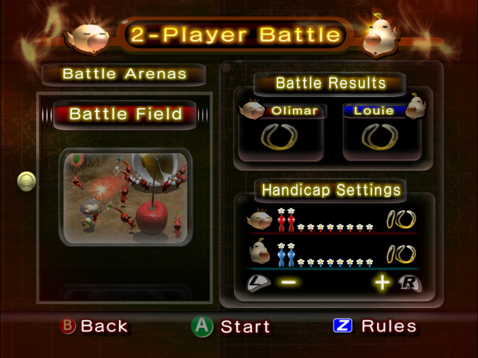 2 Player Battle Pikipedia The Pikmin Wiki