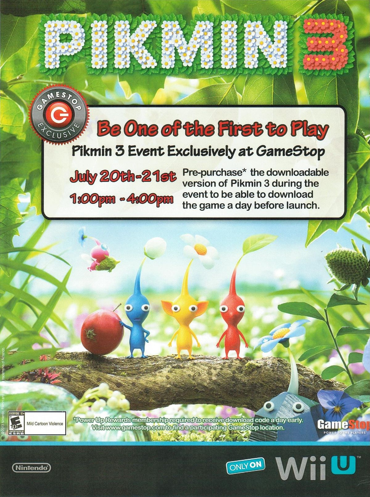 Pikmin 3 Gamestop Hands On Event Pikipedia The Pikmin Wiki