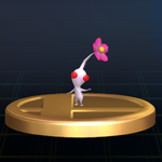 White Pikmin trophy SSBB.png